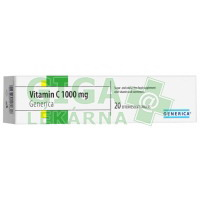 Vitamin C 1000mg Generica 20 šumivých tablet