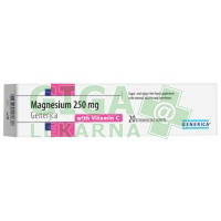 Magnesium 250mg s vit.C 20 šumivých tablet