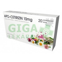 Apo-Cetirizin 10mg 20x10mg tablet