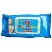 Ubrousky dětské hygienické Baby Wipes Aloe Vera 80ks s distr