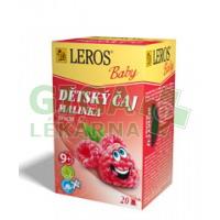 LEROS BABY Dětský čaj Malinka nálevové sáčky 20x2g