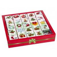 Čaje pyramidky v kostkách 13 druhů 25ks Adventní kalendář