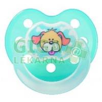 BABY NOVA dudlík latex tvarovaný dekor + kroužek č.1