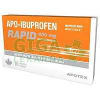 Apo-Ibuprofen Rapid 400mg 10 měkkých tobolek