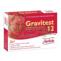 Těhotenský test Gravitest 2v1 HCG 12,5mlU/ml