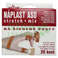 Náplast ASO Stretch na šikovné prsty KRB MIX 20ks