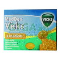 MedDex Vicks med 12 pastilek na suchý kašel