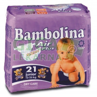 BAMBOLINA Air Plus Junior plenkové kalhotky 12-25kg 21ks