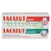Lacalut aktiv 100ml + Lacalut sensitive 100ml