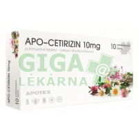 Apo-Cetirizin 10mg 10x10mg tablet