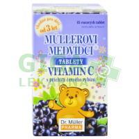 Müllerovi medvídci s vit.C s příchutí černého rybízu 45 tablet