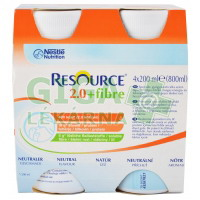 Resource 2.0kcal Fibre Neutrální 4x200ml