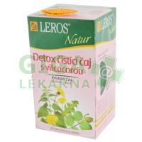LEROS NATUR Detox čistící čaj s Vilcacorou 20x1.5g