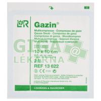 Gáza hydrofilní skládaná komprese sterilní Gazin 10x10cm 2ks