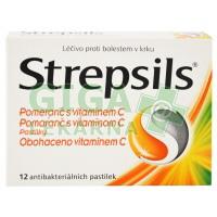 Strepsils Pomeranč s vitaminem C 12 pastilek