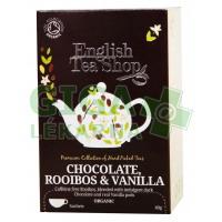 English Tea Shop Bio Čaj Čokoláda Rooibos Vanilka 20s.