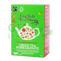 English Tea Shop Bio Fairtrade Zelený čaj Granátové jablko 20s.