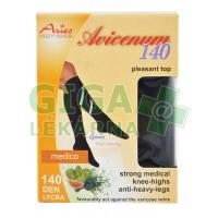 Avicenum 140 podkolenky L LONG (3D) strong černé