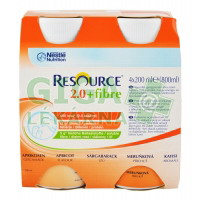 Resource 2.0kcal Fibre Meruňkový 4x200ml