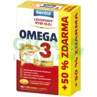 Revital Premium Omega 3 cps.40+20 zdarma
