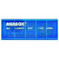 Dávkovač na léky ANABOX Denní box barevně rozlišený