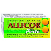 Allicor Forte česnek 60 tablet Naturvita