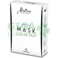 Princess Mask Skincare Green Tea pleťová maska 8ks