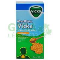 MedDex Vicks med 120ml sirup na suchý kašel
