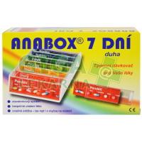 Dávkovač na léky ANABOX 7 dní duha