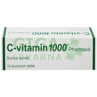 C-vitamin 1000 Pharmavit šumivé tablety 10x1000mg