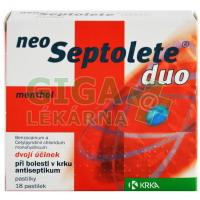 Neoseptolete Duo Menthol 18 pastilek