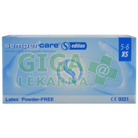 Rukavice Sempercare latex bez pudru XS 5-6 100ks