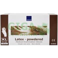 Rukavice vyšetřovací Latex XL 100ks