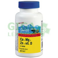 Swiss Citráty Ca+Mg+Zn+vit.D 30 tablet