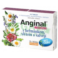 Anginal tablety s heřmánkem a slézem 16 tablet