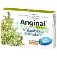 Anginal tablety s islandským lišejníkem 16 tablet
