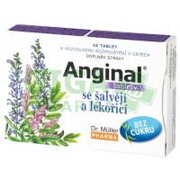 Anginal tablety se šalvějí a lékořicí 16 tablet