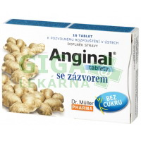 Anginal tablety se zázvorem 16 tablet