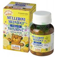 Müllerovi medvídci s vit.C a příchutí citronu 45 tablet