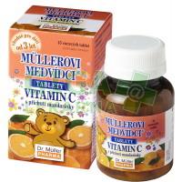Müllerovi medvídci s vit.C s příchutí mandarinky 45 tablet