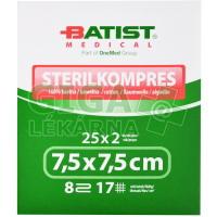 Gáza komprese sterilní Batist 7,5x7,5cm 25x2ks
