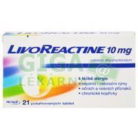 LivoReactine 10mg 21 tablet
