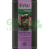 Hořká čokoláda s oříšky VIVANI 100g-BIO