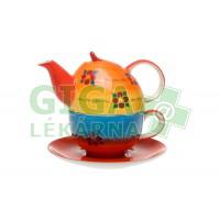 Oxalis Duha -keramická tea for one souprava