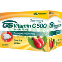 GS Vitamín C 500 se šípky 60 tablet