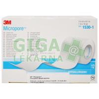 3M Micropore papírová náplast bílá 2.5cmx9.15m 12ks
