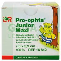 Okluzor náplast Pro-ophta Junior Maxi 7,0x5,9cm 100ks