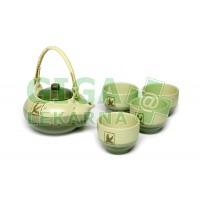 Oxalis Tea Hour - keramická souprava