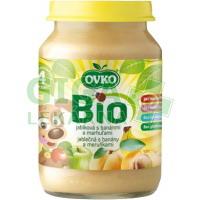 Dětská výživa jablečná s banány a meruňkami OVKO 190g - BIO
