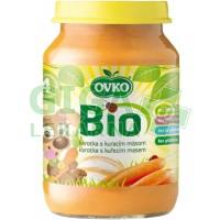 Dětská výživa karotka s kuřecím masem OVKO 190g - BIO